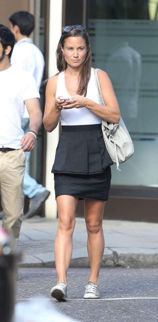 Pippa Middleton out in west London 20/08/13